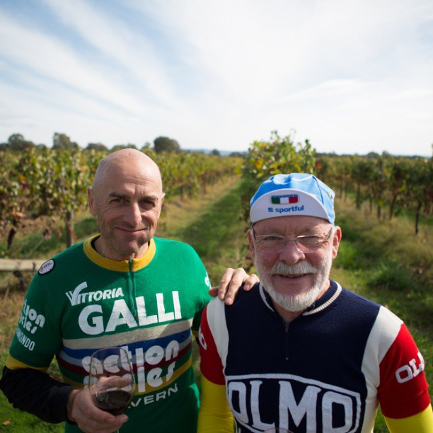 Wayne Hildred's (left)  in his old Aussie National Champion jersey.  John Farley (right) (Instagram)