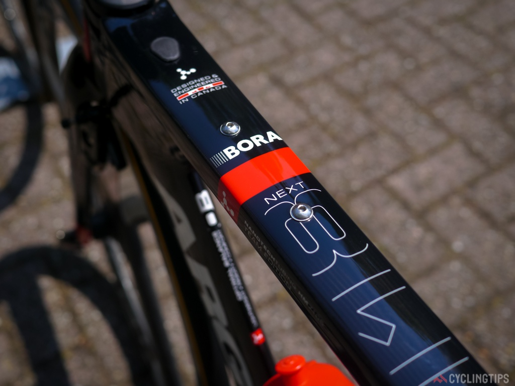 The Argon 18 118Next is also a favorite amonst triatheltes and Ironmen, the two screws on the top tube are for bottle cages or fuel boxes.