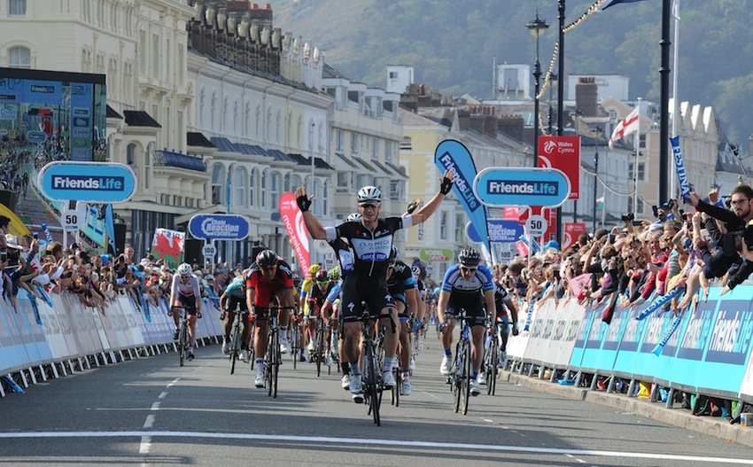 Mark Renshaw wins stage 2 of the 2014 Tour of Britain (Image: Tour of Britain).