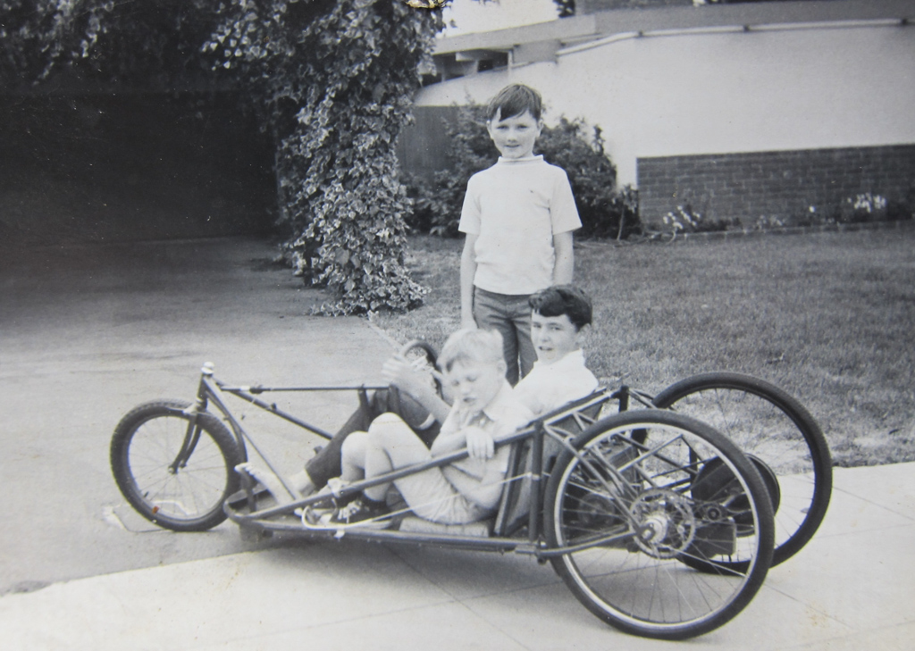 Something he knocked up at an early age. A two man electric vehicle , this at 12 years of age.