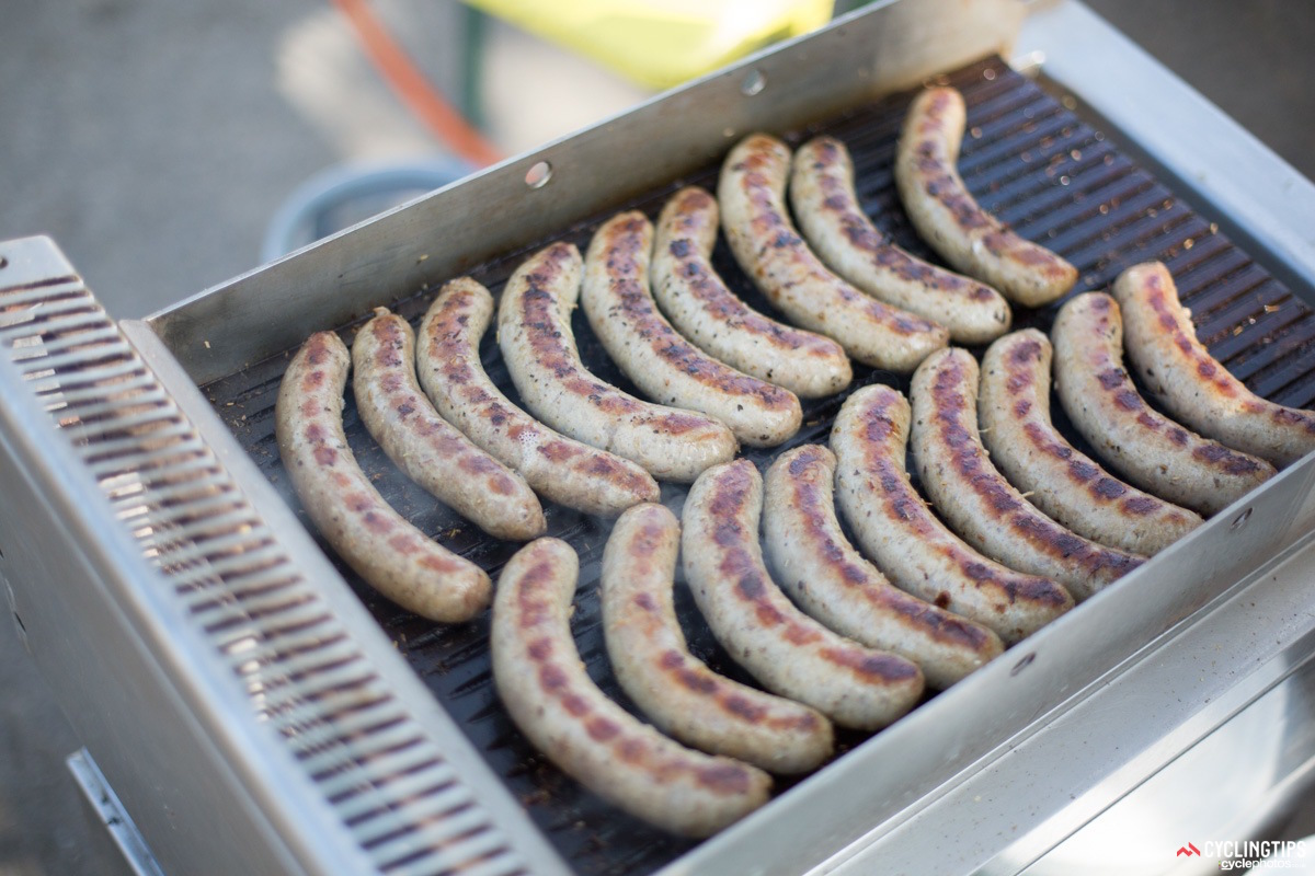 Never too early for sausages! The grills were fired up as teams were arriving around 10am.