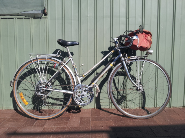 This bike carried Bec Werner's mother 2500 kms from Adelaide to Brisbane in 1982. Now, it's going to make the same journey again.