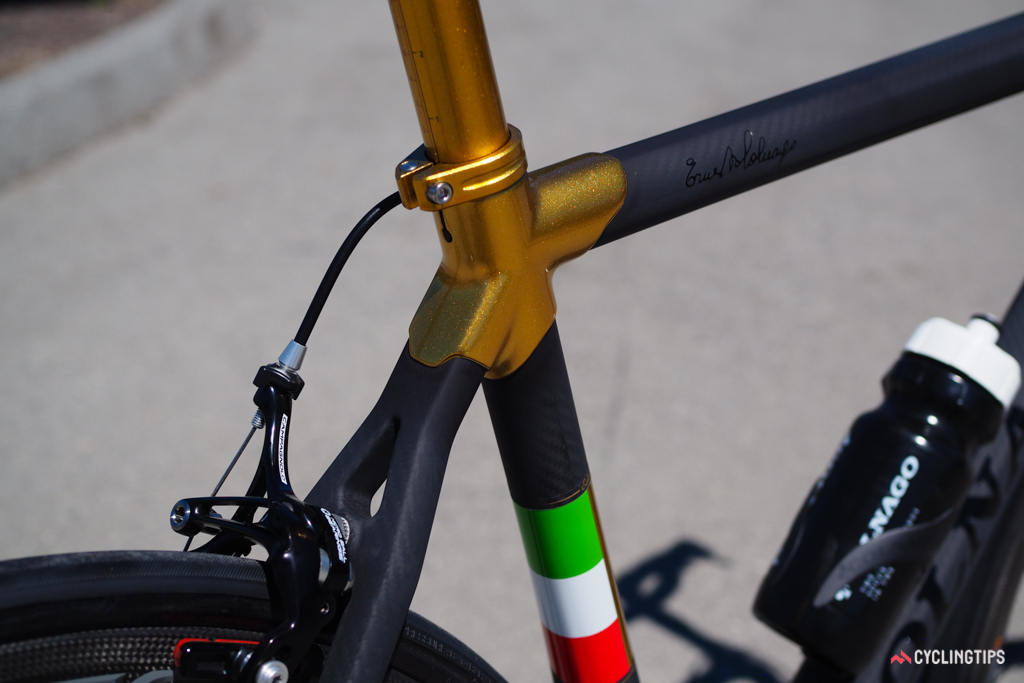Some may consider the gold a little overdone but for the Colnago faithful, there will be no explanations needed.