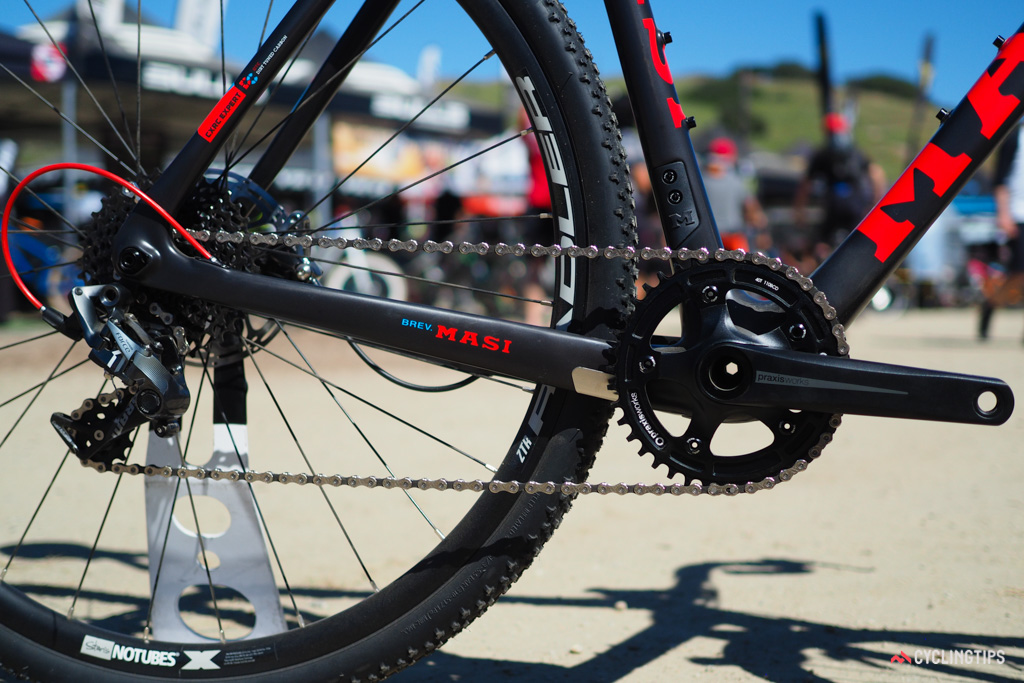Masi will offer the CXRc with either a 2x or 1x drivetrain, depending on the model.