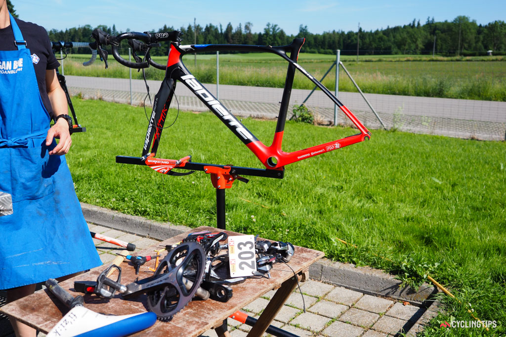 This frameset will be built up in rapid fashion.