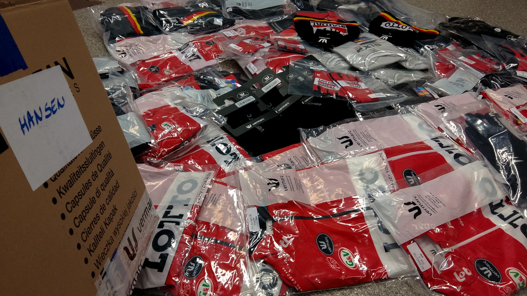 Just a small amount of the kit that will see it's way to Adam Hansen in the Czech Republic where he lives.