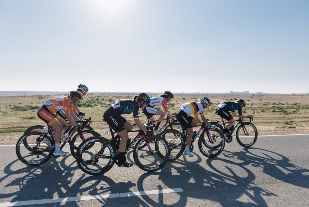The lead group was formed within one kilometer, early in the race.