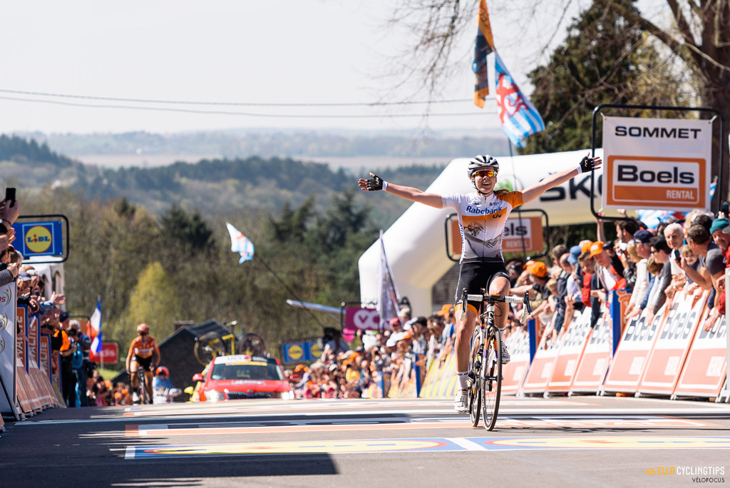 Anna van der Breggen successfully defends her title at La Flèche Wallonne Femmes - a 137km road race from starting and finishing in Huy on April 20, 2016 in Liege, Belgium.