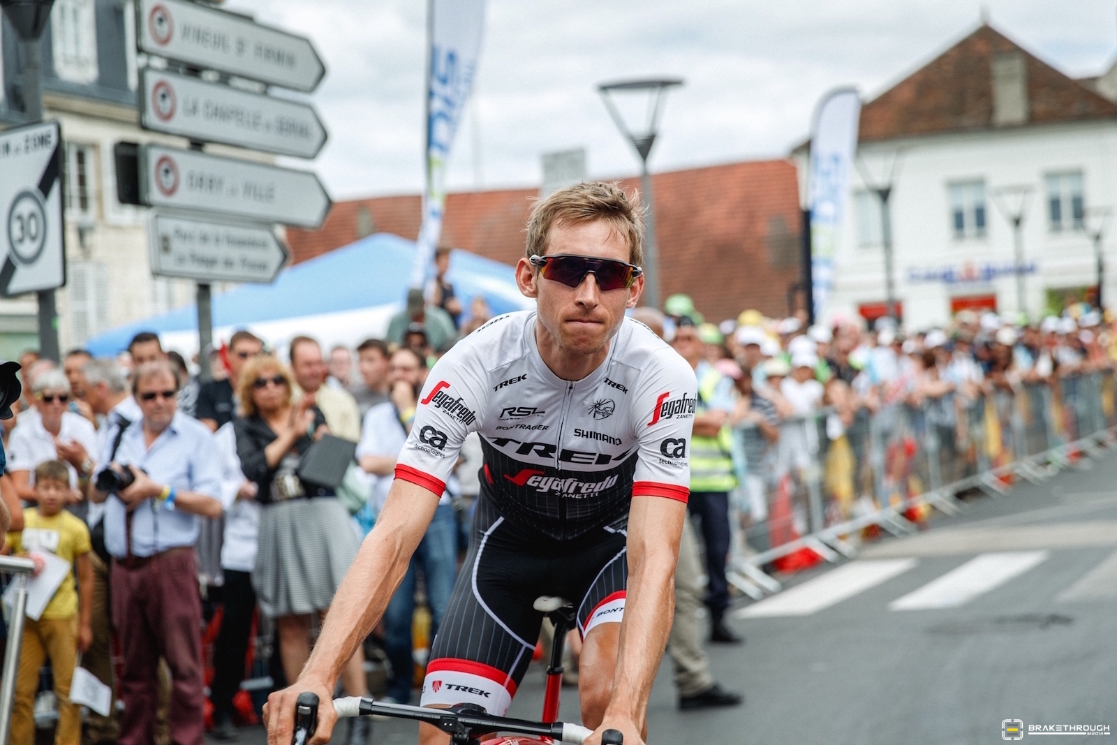 Bauke Mollema (Trek-Segafredo) struggled the final few days in the Alps, and though he sat second overall, he finished the Tour outside of the top 10. Photo: BrakeThrough Media