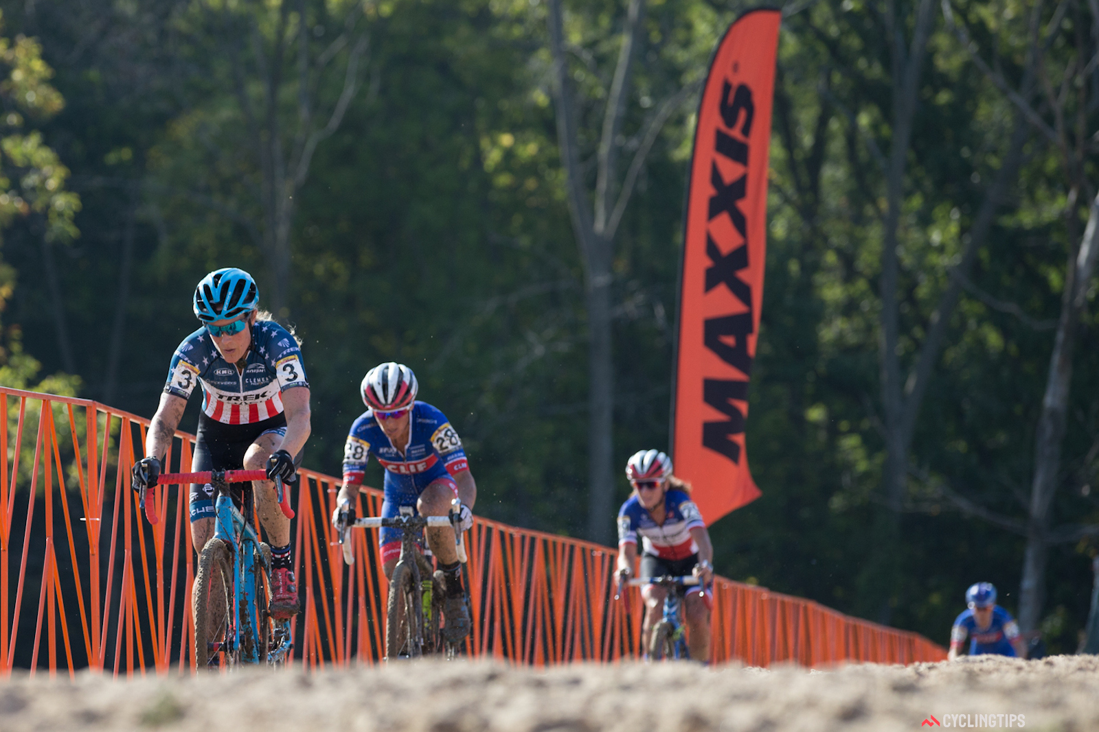 Compton led from start to finish, with only Nash able to ride with her, until a broken rear derailleur ended her podium chances. Photo: Wil Matthews/Jake Orness.
