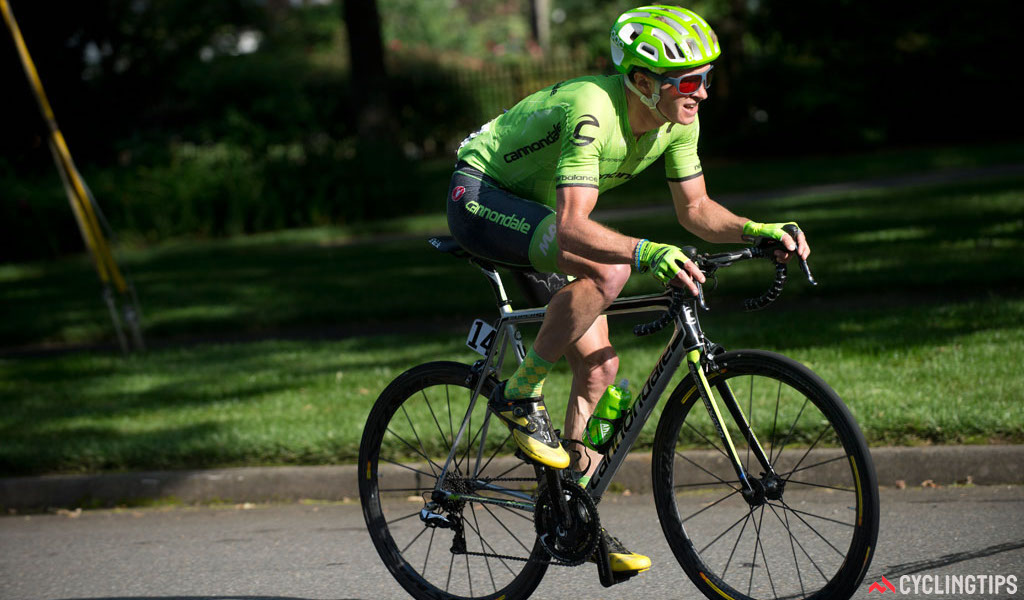 Ben King (Cannondale) in full suffer mode on the final lap. He was on super domestique duty for teammate Alex Howes at the US national championships. Photo by Casey B. Gibson.