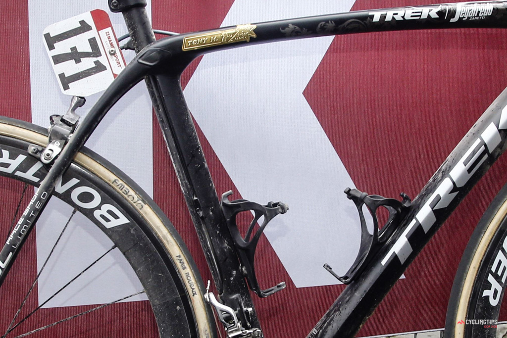 The new Domane looks to use a radical twin seat tube design. (Cor Vos)