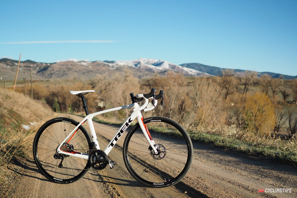 The new Trek Domane SLR is more comfortable than the original out back but more importantly, it now has a much more balanced feel up front, too.