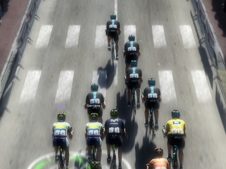 We were only 40km into stage 15 (the Mont Ventoux stage) and the Team Sky train was at the front. Contador would go on to win the stage.