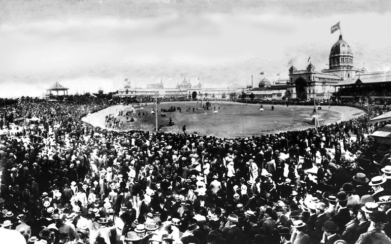 The Melbourne Exhibition ground track.
