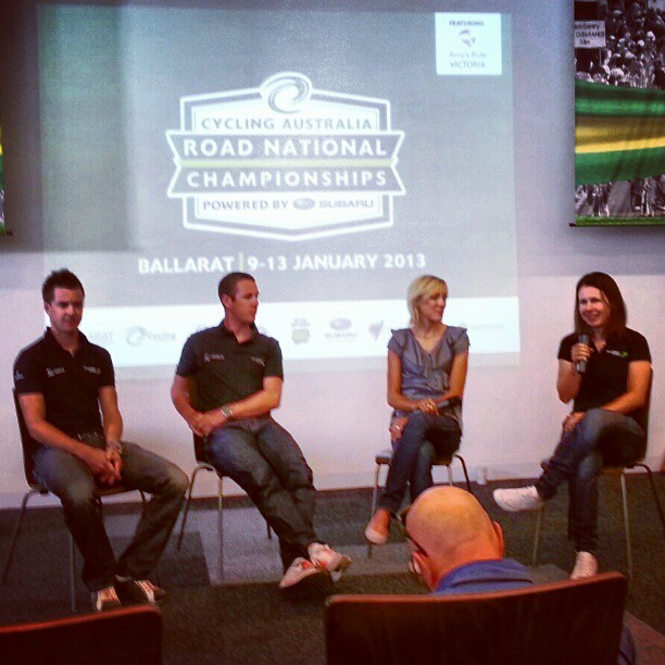 Gossy,  Clarky,  Naylan and Spratt having a word about how they'll approach the Nationals (Instagram)
