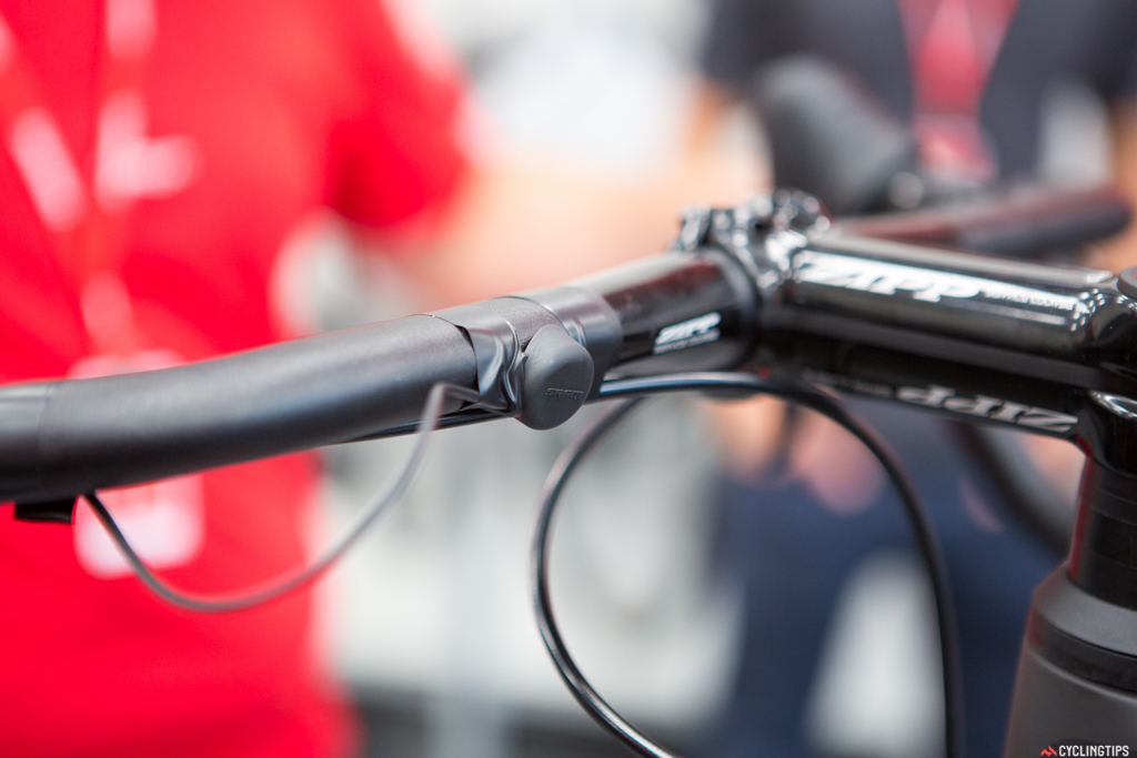 The Blips look best when underneath the bartape, but perhaps are easiest to use when pressed directly. However, this doesn't make the bar tape look very good.
