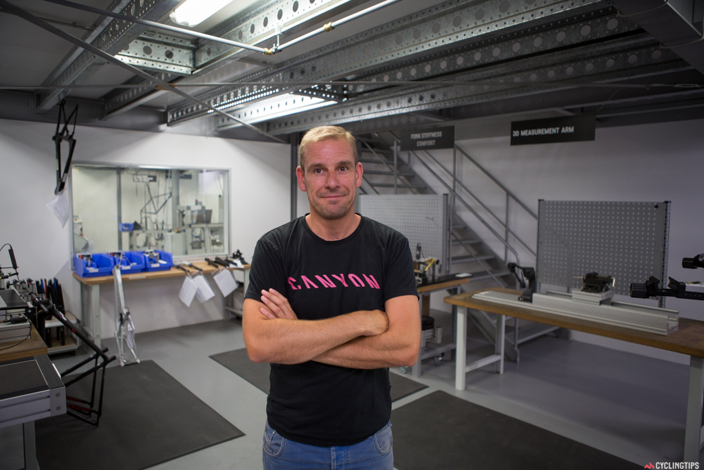 Gordon, one of the main men in developing Canyons latest bikes. His background is in the automotive industry.