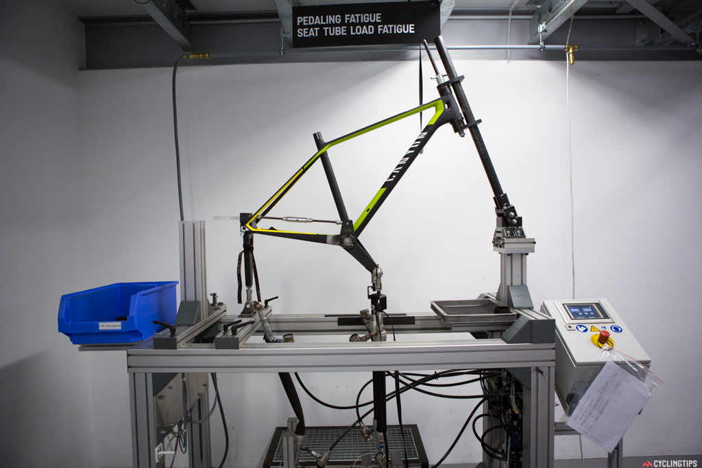 When it comes to fatigue testing, purpose built jigs are very effective for testing the durability of the frame but fail to provide any meaningful data on ride quality.
