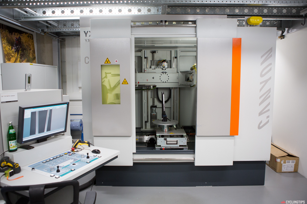 The CT scanner, one of two Canyon uses to see inside its products.
