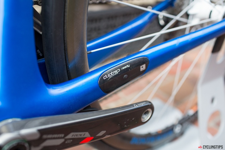 DuoTrap speed and cadence sensor integrated into the frame.