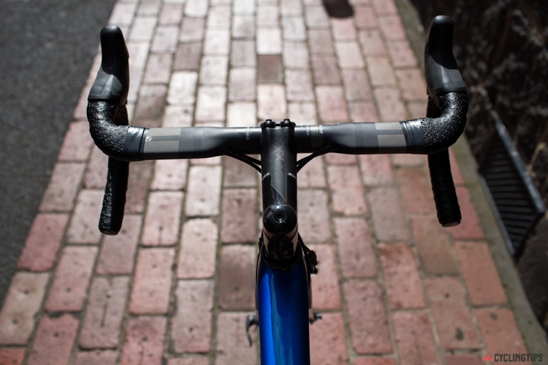 The XXX Aero bars were slightly too thin for my liking, but there are lots of other options available.