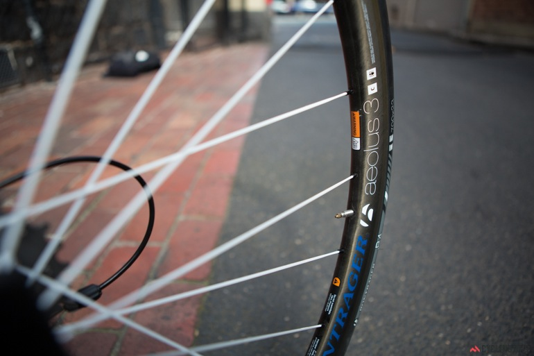 The Bontrager Aeolus D3 clincher wheels are one of the best things about this bike.