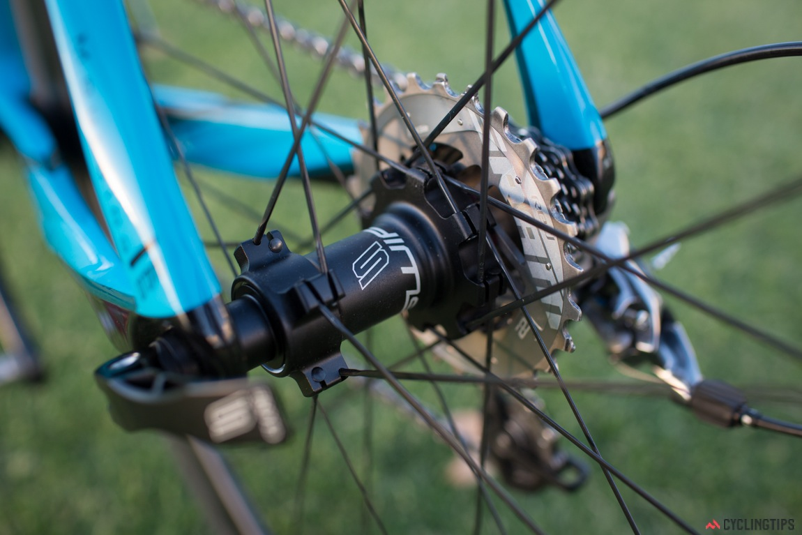 Swift's branded hubs feature direct pull spokes. Unfortunately there is not much information on the construction of the hubs themselves.