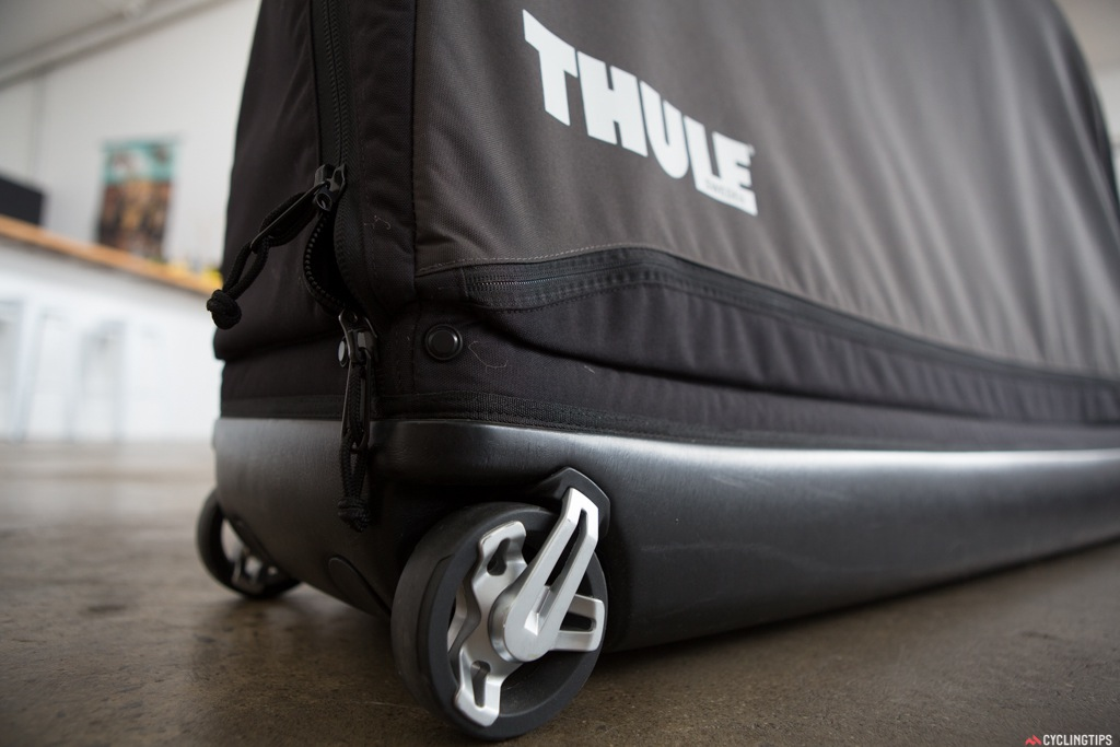 Heavy duty wheels and handles for easy transport around the airport and train platforms. A must when trying to carry a lot of luggage.