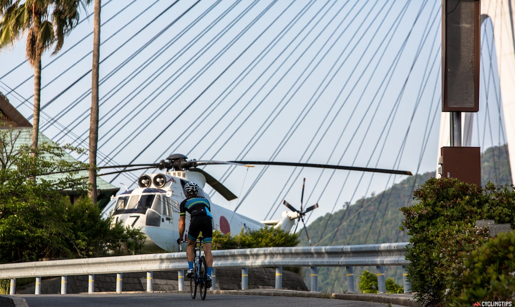 One of the many incredible things you pass by on the Shimanami cycleway