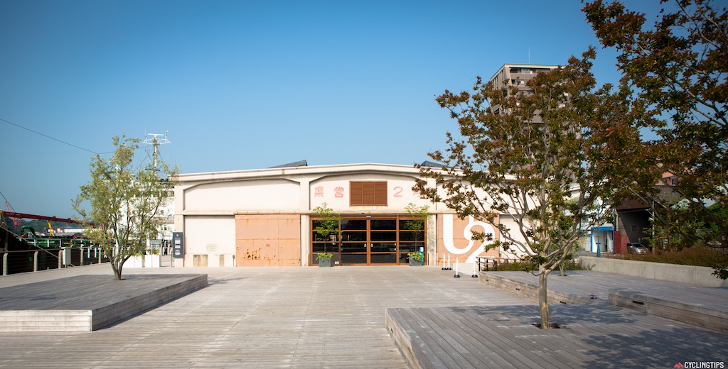 The U2 Onomichi - an old maritime shipyard warehouse that's been recently renovated with the Cycle Hotel, a Giant bike shop, restaurants, bars and cafes.
