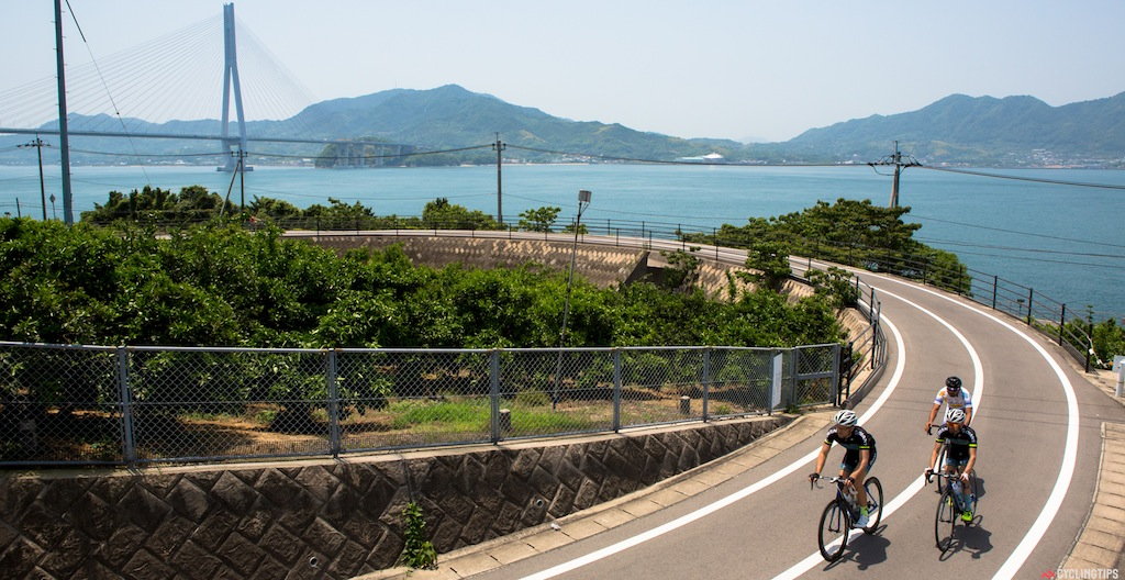 A good portion of the Shimanami Cycleway is bikepath that cyclists get to enjoy without any traffic