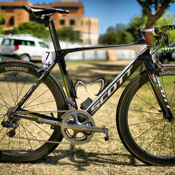 GreenEDGE's Scott Foil (Stuey's bike)  No changes for 2013 except Dura Ace 9000 upgrade. Paintjob staying the same but might be refreshed for the Tour (Instagram)