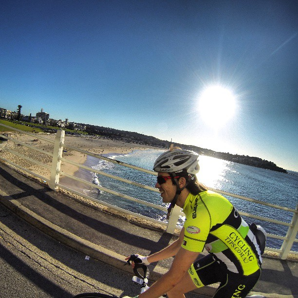 Is there a more beautiful place on earth?  A fantastic morning riding around the southern beaches with @shoddycycling #bondi #wymtm (Instagram)
