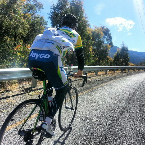 Just had a fantastic ride with @simongerrans up Mr Buller. The first climb of the 4 peaks I'll do this weekend #7Peaks (Instagram)