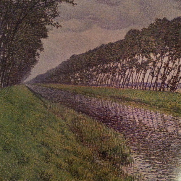 Nice neo-impressionism of one of the canals in Flanders (pre-bikepaths!) (Instagram)