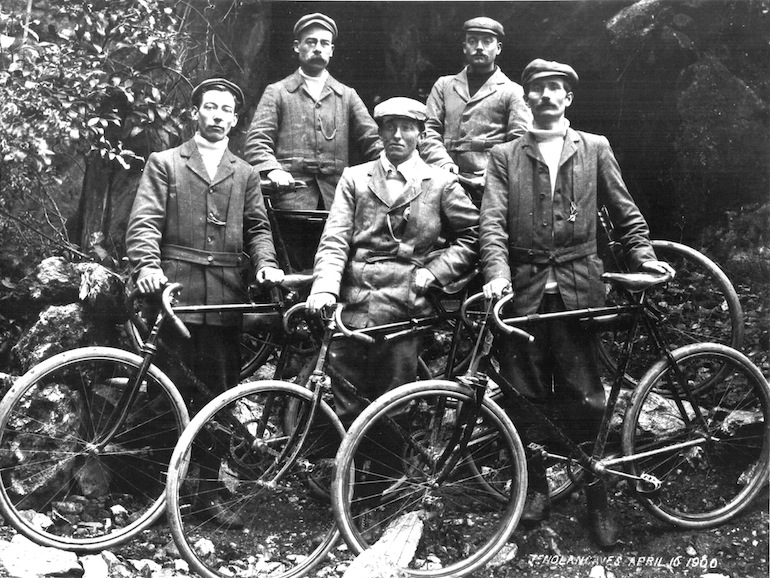 Touring cyclists in NSW circa 1900.