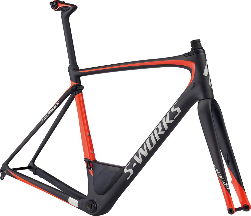 The S-Works frameset also comes a complere bike, the S-WORKSorks Roubaix eTap. It comes complete with a full Sram eTap groupset, and SRAM's Red hydraulic disc brakes and Roval's latest CLX 32 Disc specific wheels.