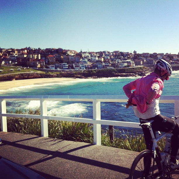 Absolutely stunning ride  along the Eastern Suburbs beaches the morning. Love it here (Instagram)