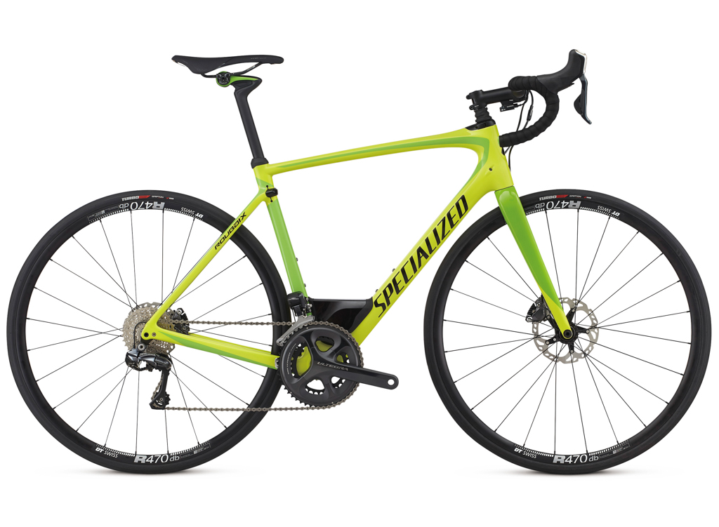 The Roubix Expert UDI2 as the name suggests comes with a full Ultegra Di2 shifting kit, wheels are DT R460 Disc.