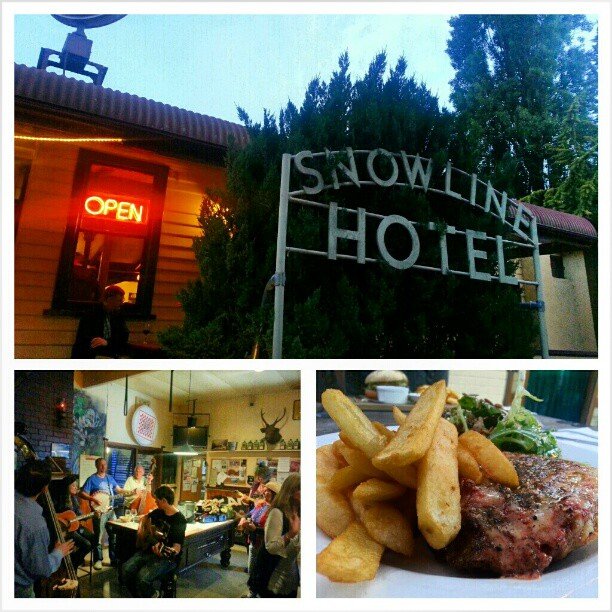 The Snowline Hotel in Harrietville. Voted the 2nd best parma in Australia. Awesome pup and great music. Will definitely be back. (Instagram)