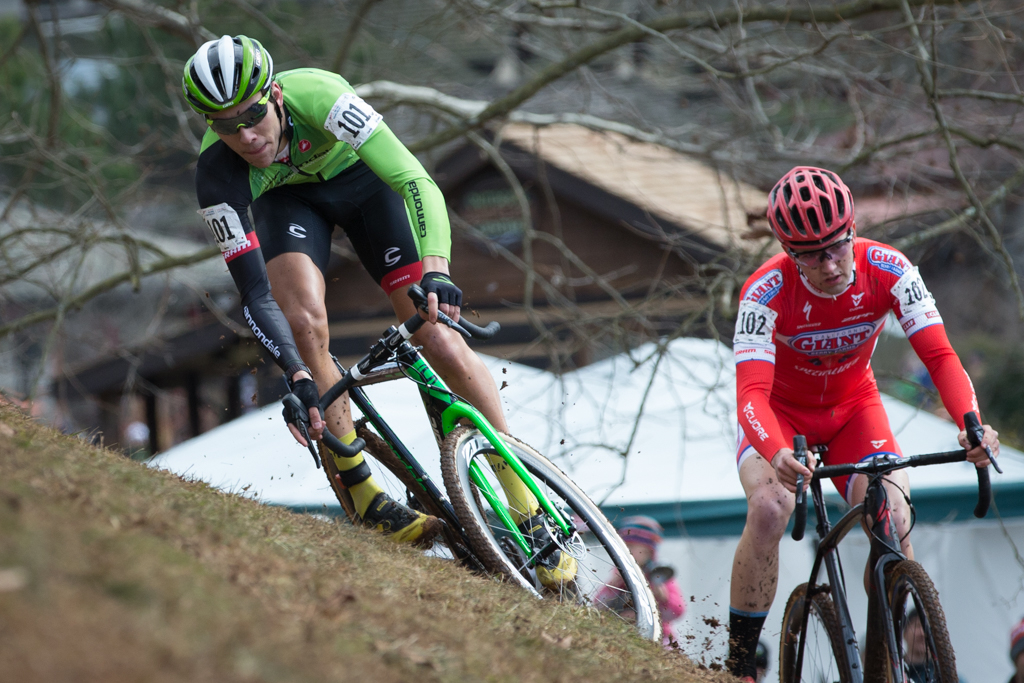 Curtis White (Cannondale-Cyclocrossworld.com) struggled with crashes while Tobin Ortenblad (California Giant) rode a smooth race to take the national U23 men's title.