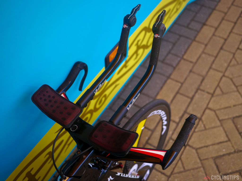 Notice the grip tape as apposed to standard bar tape on the bars.