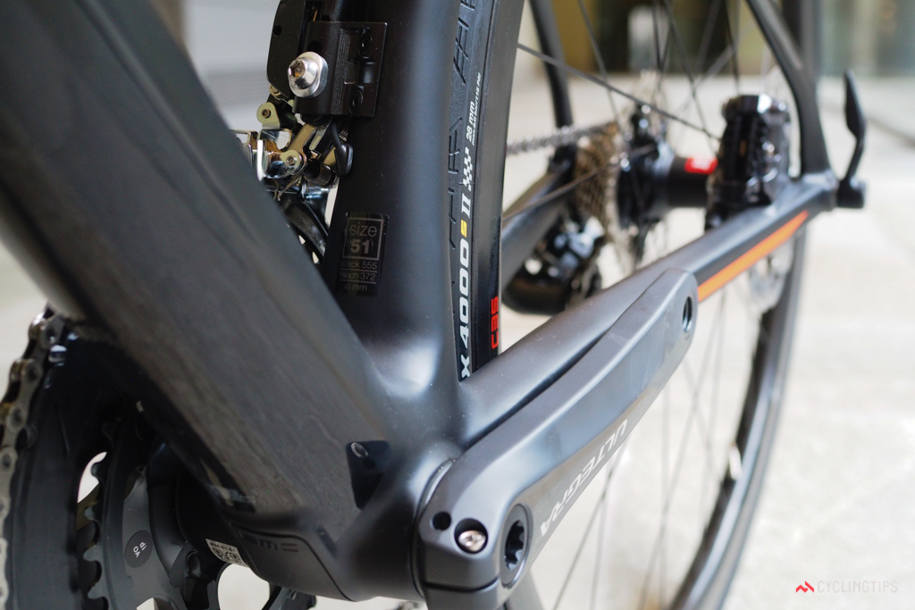All of the adjoining tubes main good use of the PF86 bottom bracket shell's extra width.