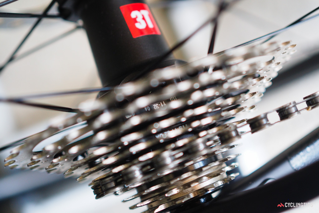 BMC outfits the RoadMachine with ample gearing range for scaling long and steep climbs.