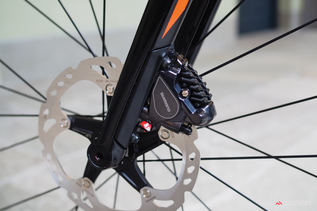 The flat mount front brake is particularly well done from a visual standpoint.
