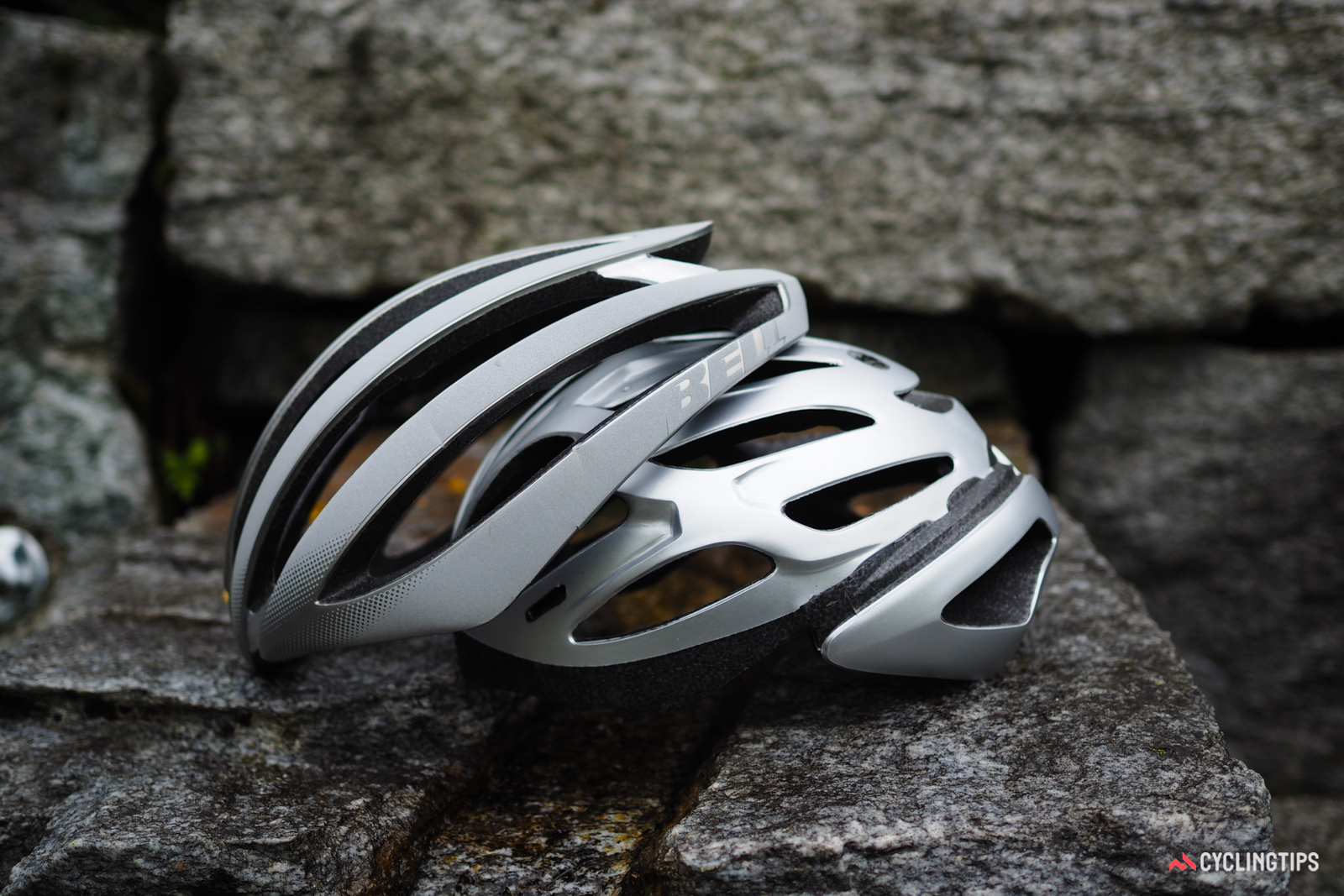 The Zephyr uses a novel helmet-within-a-helmet design, with each half featuring its own polycarbonate outer shell.