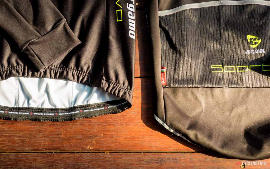 A look at the waistline of the Sportivo long sleeve jersey (left) versus the Danny Print (right).