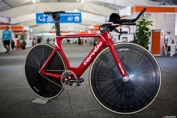 The Cervelo T4 bike that Jack Bobridge will be using to attempt the World Hour record on January  31 at DISC velodrome in Melbourne.