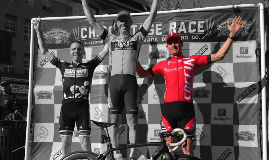 Buckley, on right, finished second overall at the 2015 Chico Stage Race. Photo: Oli Ryan.